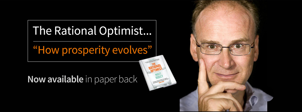 The Rational Optimist - Now available in paperback